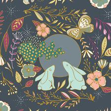 By 1/2 Yard Nightfall Moon Stories Spark Art Gallery Fabric AGF ~ Bunny Rabbit