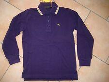 (H724) Etro Milano Boys Langarm Polo Shirt dicke BW mit Logo Stickerei gr.140