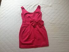 NEARLY NEW Ladies Pink Dress Size 6 Formal Fitted Short Wedding Summer Party Bow