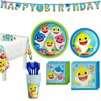 Party City Baby Shark Birthday Party Tableware Supplies, Include Plates,