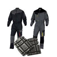 Delta Plus DMCOM Mens Work Overalls Boiler Suit Coveralls Mechanics + Knee Pads