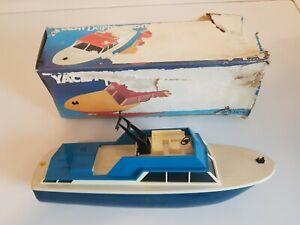 """DDR Spielzeug Boot / Schiff """"Yacht Möwe"""" Schiebeboot in OVP"""