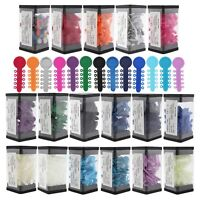 1000PCS/Box Dental Orthodontic Ligature Elastic V Tie Band 17 Colors For Choose