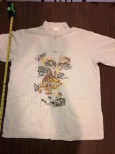 Vintage Laogudai Chinese Traditional Linen Shirt Rare