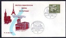EUROPA CEPT FDC 1961 ALLEMAGNE 9 - cachet STUTTGART de 1962