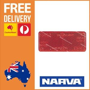 Narva Rectangle Red Reflector 70mm x 28mm ADR Approved Stick On x 1 Only 84037