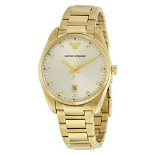 Emporio Armani Classic Gold-tone Stainless Steel Ladies Watch AR6064