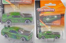 Majorette RACING 212084009 Dodge Challenger SRT Hellcat grün Felge schwarz/weiß