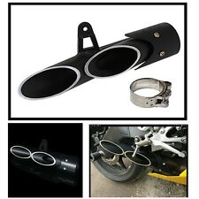New Exhaust Pipe Dual-outlet Tail Pipe For Motorcycle Exhaust System Dia 51 mm