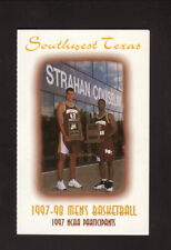 Jeff Foster--Southwest Texas State Bobcats--1997-98 Basketball Pocket Schedule