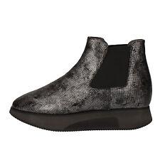 scarpe donna GUARDIANI SPORT 37 EU stivaletti grigio pelle tessuto AD307-B