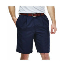 Haggar Men's Performance Shorts Cool 18 Navy Size 40W Pleated Front NEW