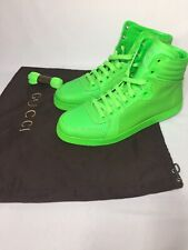 Gucci 322730 High Top Men's Sneakers Shoes Fluorescence Green Size UK 8.5 US 9