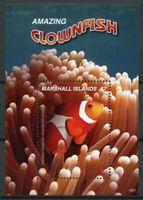 Marshall Islands Fish Stamps 2019 MNH Amazing Clownfish Marine 1v S/S