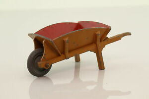 Dinky Toys 382; Wheelbarrow; Brown, Red Interior; V Good Unboxed