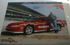 1999 CHEVROLET MONTE CARLO PACE CAR INDYCAR IRL INDY 500 JAY LENO POSTER CARD