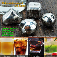 Whiskey Wine Beer Stainless Steel Cooler Stone Ice Cube/Diamond/Ball Chiller Set