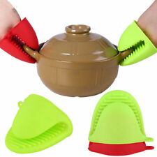 Baking Oven Mitts Silicone Heat Resistant Kitchen Cooking Pot holder Pair Gloves
