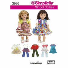 Hippie bell bottoms PATTERN Simplicity 3936 dress pants clothes fit AG 18in doll