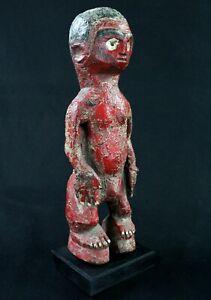 """Art Africain - Rare Fétiche Peint de type """"Colon"""" Tagbana sur Socle - 40 Cms +++"""