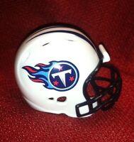 Riddell Pocket Pro football helmet lot of 3 Tennessee Titans rev style