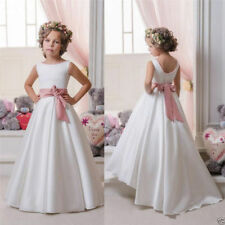 Long Girl's First Communion Dress Kid Birthday Party Prom Flower Girl Dresses