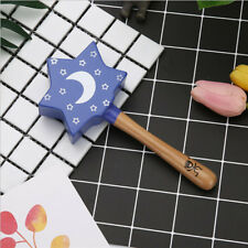Wooden Hand Bells Baby Rattle Bell Toy Newborn Early Educational Gift GG