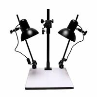 "23""Inch High Copy Macro Stand 14 x 15.75"" inch Base,Quick Release Mount + Lights"