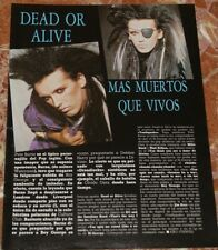 DEAD OR ALIVE SPANISH CLIPPING 1985