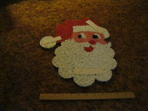 Vintage Santa Claus Plastic Hanging Wall Door Holiday Christmas Decor Piece
