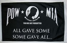 Pow Mia All Gave Some Some Gave All Flag 3' x 5' Military Banner