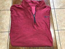 Nike  L/S 1/4 zip L/S pullover size S crimson red DriFit
