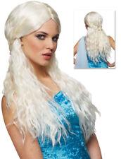 Platinum Barbarian Bride Medieval Womens Costume Wig