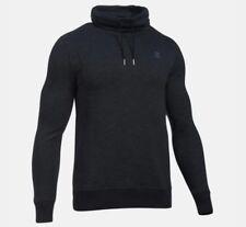 Under Armour Men's Size 2XL Black Baseline Funnel Neck Hoodie Shirt Top 1305442