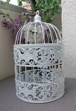 Antica GABBIA PER UCCELLI uccelli Bauer fiori Gabbia Dekokäfig Marrone Nouveau gabbia in metallo