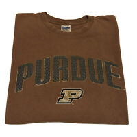 VTG 90s Purdue T-Shirt Men's Large College Spell Out Official Logo Basketball OG