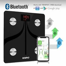 RENPHO Smart Bluetooth Body Fat Scale USB Rechargeable Digital Wireless Body Com