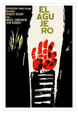 Decor movie Poster for Cuba film.The HOLE.French art director Jacques Becker
