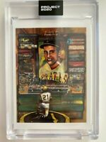 Topps Project 2020 Roberto Clemente Artist Andrew Thiele #138 PR 6,507 Pirates