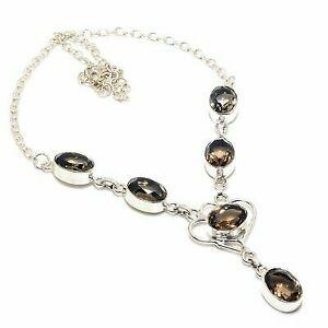 """Classic Smoky Topaz Handmade Ethnic Style Jewelry Necklace 18"""""""