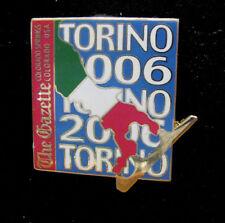 Torino 2006 Winter Olympic Colorado Springs Gazette newspaper media pin