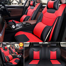 US Car L Size Mircrofiber Leather Seat Covers 5-Seat SUV Full Front+Rear Set Kit
