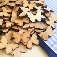 50 x 25mm Butterflies MDF Wooden Shape Craft Embellishments Wood Craft Art