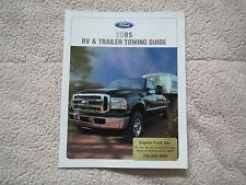 2005 FORD EXCURSION EXPLORER F150 F250 RV AND TRAILER TOWING SALES BROCHURE