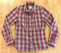The North Face Women's Plaid Button-up Flannel Shirt Long Sleeve Size M Pocket