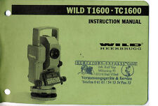 Wild Heerbrugg Leica T1600 TC1600 Instruction Manual Digital copy emailed as PDF