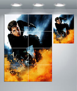 Mission Impossible Tom Cruise Giant Wall Art poster Print