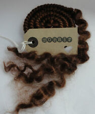 30g (approx.1oz) MOHAIR. Mid Brown - Curls
