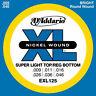 D'Addario Exl125 Super Light Top/Reg Bottom Corde per Chitarra