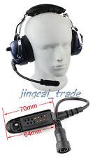 Blue Heavy-duty Noise-reduction Headset for Motorola GP328 GP340 GP380 radio
